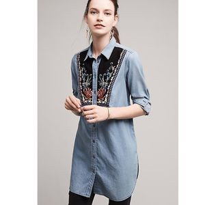 Anthropologie Holding Horses chambray tunic